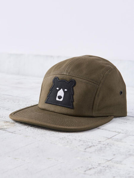 5 Panel Bear Hat - Olive-North Standard Trading Post-Over the Rainbow
