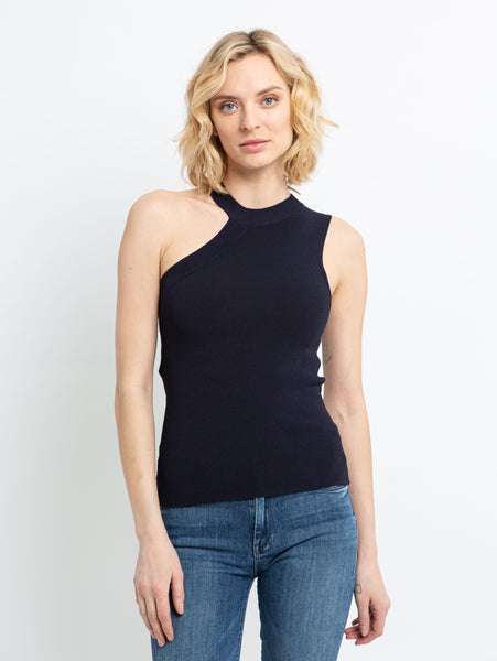 One Shoulder Sweater Tank Top-AUTUMN CASHMERE-Over the Rainbow