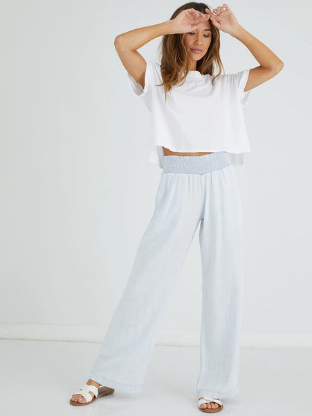 Smocked Waist Wide Leg Pant - Desert Sky-Bella Dahl-Over the Rainbow