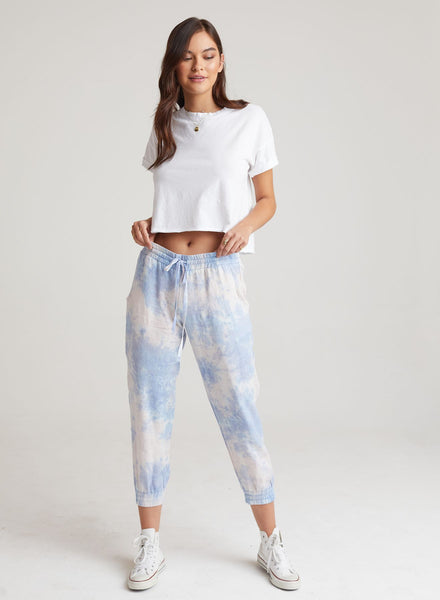 Linen Easy Jogger Pant - Galaxy-Bella Dahl-Over the Rainbow