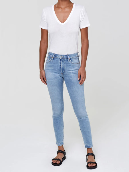 Rocket Ankle Mid Rise Skinny Jean - Paradiso-Citizens of Humanity-Over the Rainbow