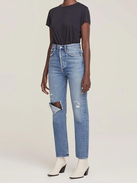 90's Pinch Waist High Rise Straight Jean - Lineup-AGOLDE-Over the Rainbow