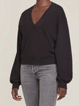 V Neck Balloon Sleeve Sweatshirt-AGOLDE-Over the Rainbow