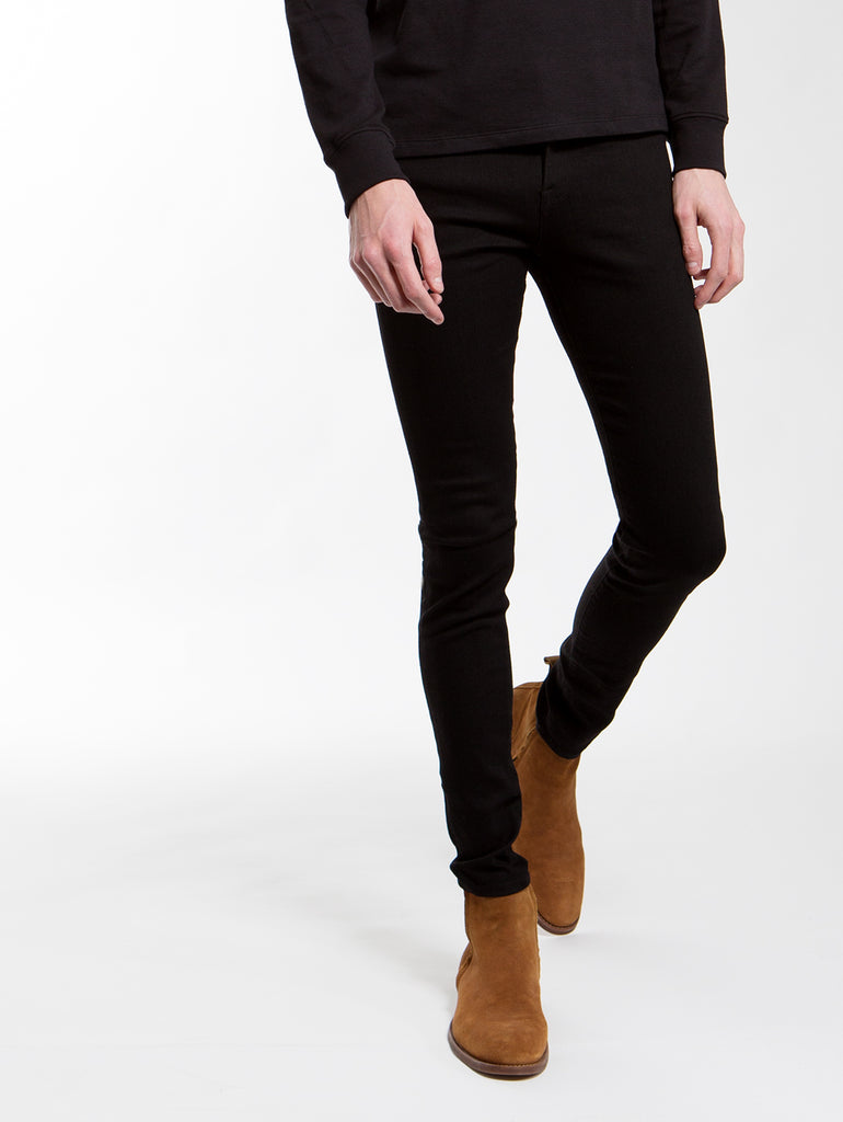 Jagger True Skinny Jean in Noir-FRAME-Over the Rainbow