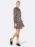 Zariah Print Long Sleeve Dress-Joie-Over the Rainbow