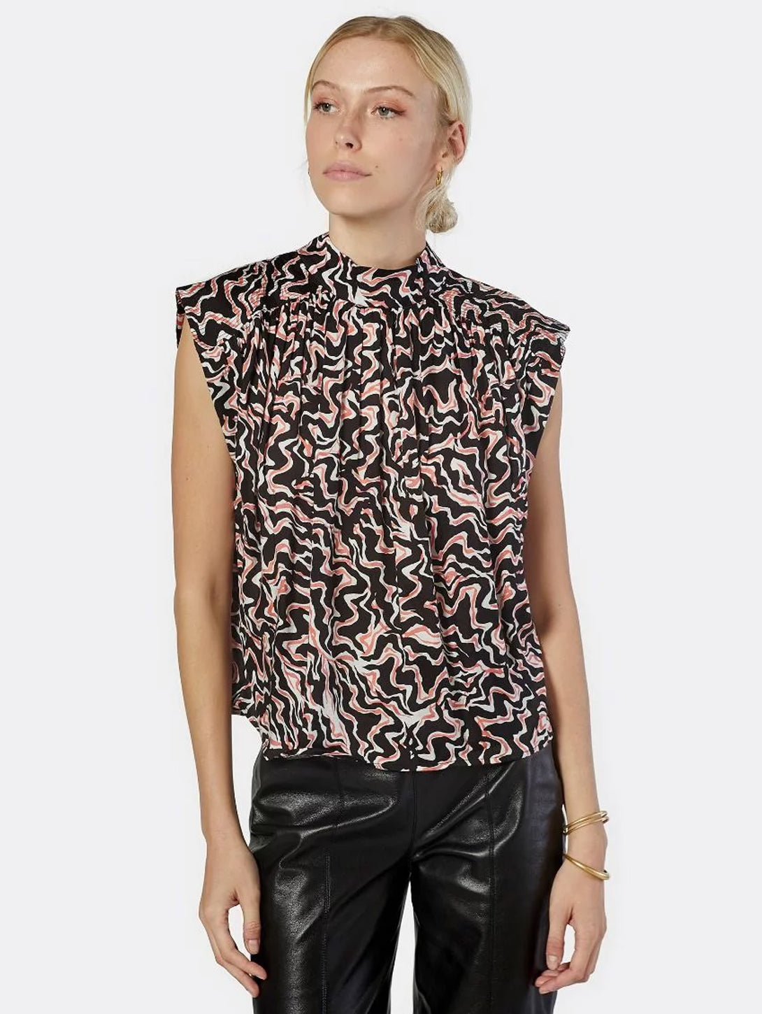 Wright Sleeveless Print Top-Joie-Over the Rainbow
