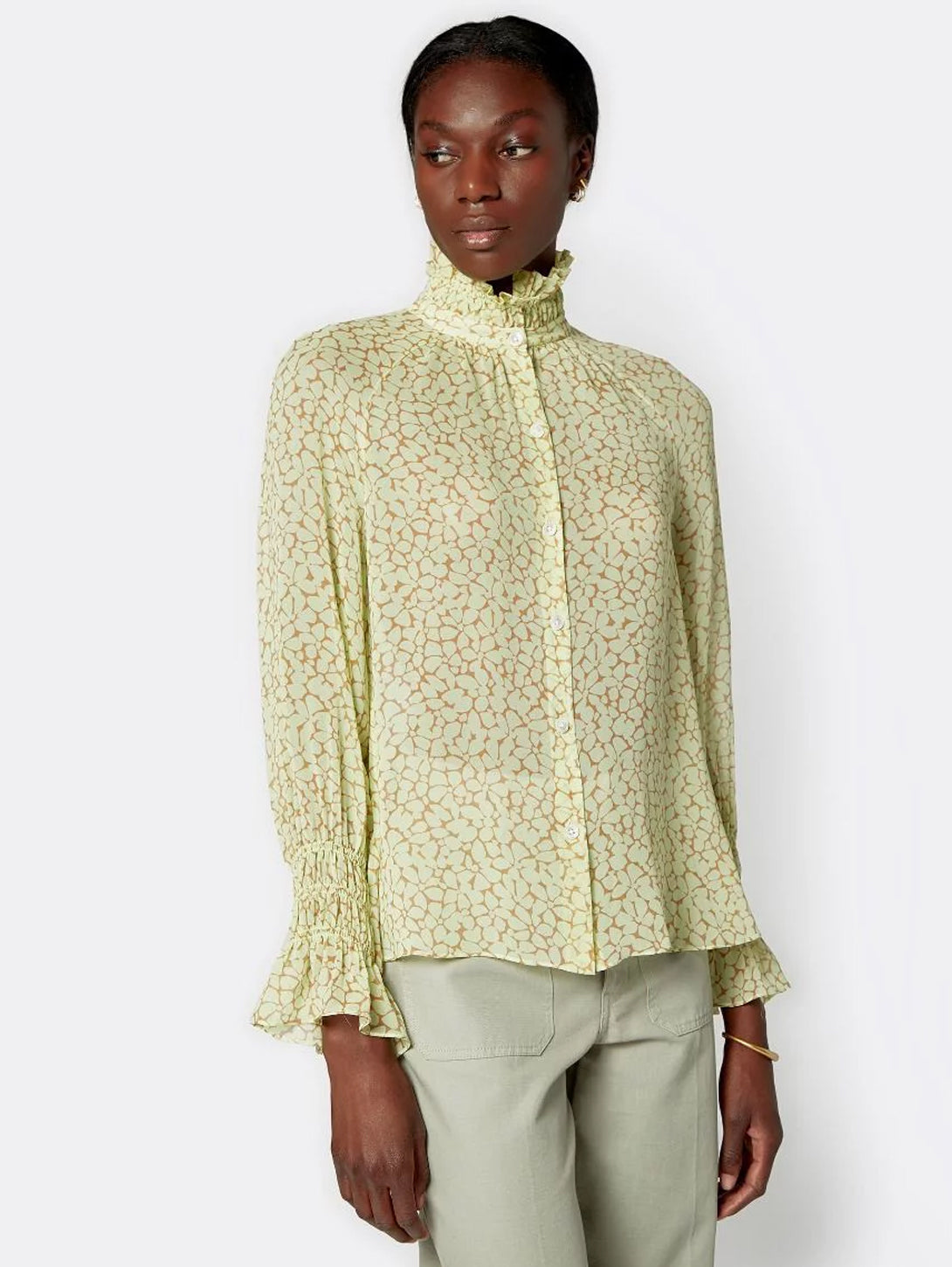 Dea Long Sleeve Silk Top-Joie-Over the Rainbow