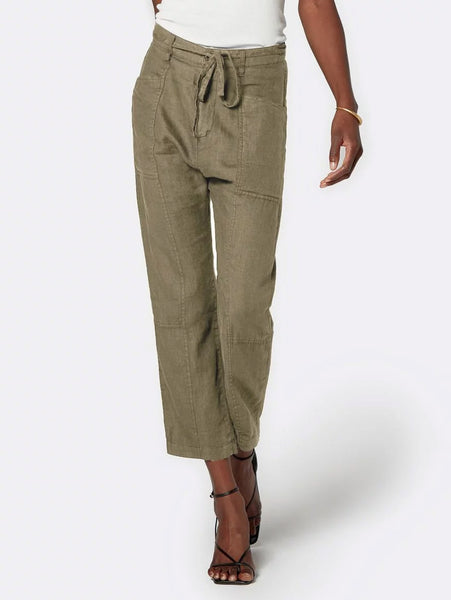 Abbott Cropped Linen Pant-Joie-Over the Rainbow