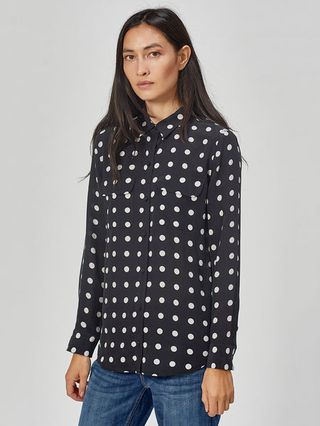 Polka Dot Slim Signature Button Down Shirt-Equipment-Over the Rainbow