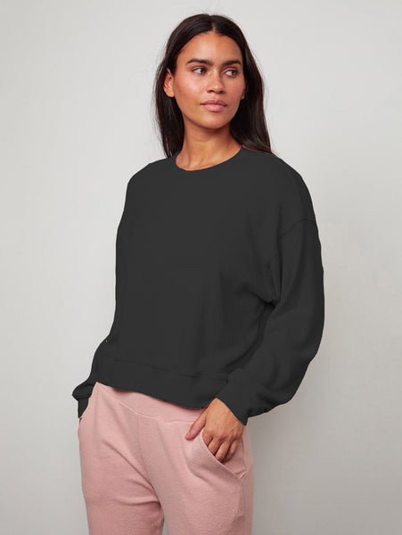 Mira Cozy Luxe Long Sleeve Top-Velvet-Over the Rainbow