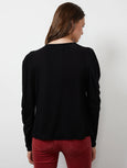 Tracie Shirred Long Sleeve Top-Velvet-Over the Rainbow