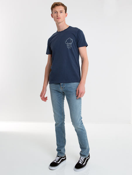 Grim Tim Slim Straight Leg Jean - Light Blue-Nudie Jeans-Over the Rainbow
