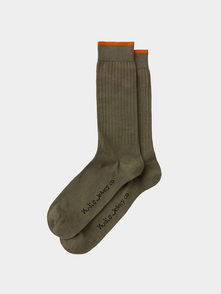 Gunnarsson Socks - Olive-Nudie Jeans-Over the Rainbow