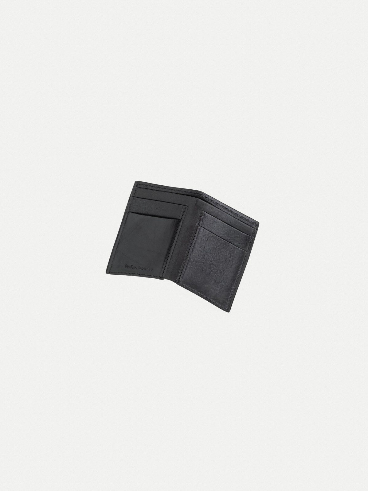 Hagdahl Saddle Leather Wallet - Black-Nudie Jeans-Over the Rainbow