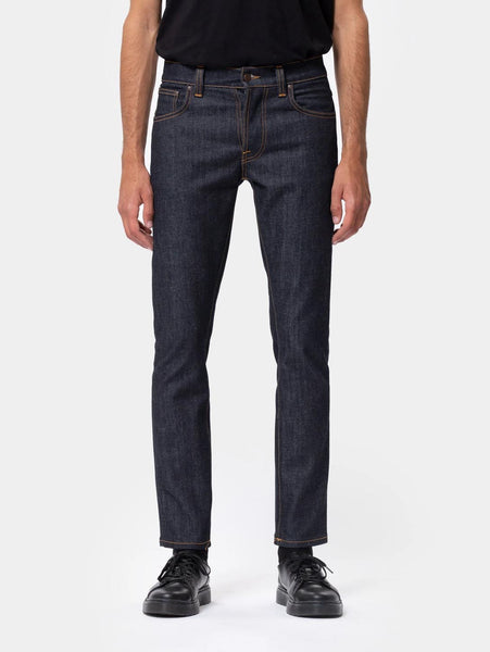 Grim Tim Jean - Dry True Navy-Nudie Jeans-Over the Rainbow