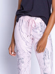 Marvelous Marble Banded Pant-PJ Salvage-Over the Rainbow