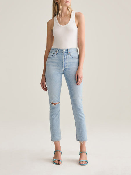 Riley High Rise Crop Straight Leg Jean - Shatter-AGOLDE-Over the Rainbow