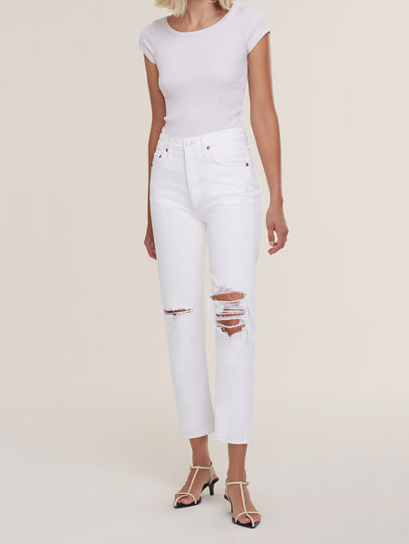 Riley High Rise Crop Straight Leg Jean - Veil-AGOLDE-Over the Rainbow