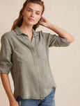 Split Back Button Down Shirt-Bella Dahl-Over the Rainbow