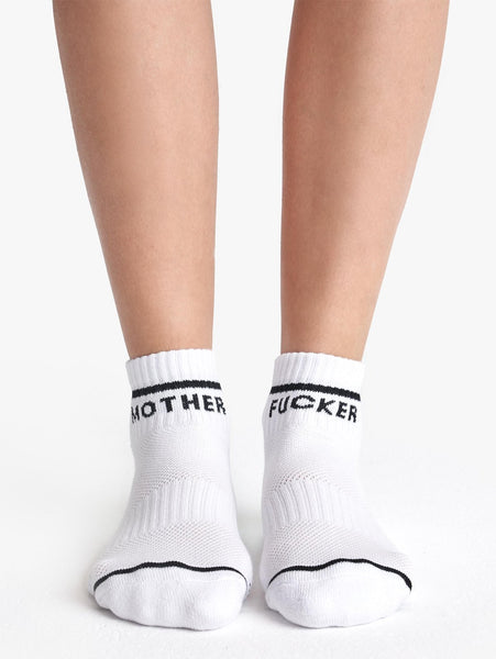 Baby Steps MF Ankle Socks - White/Black-Mother-Over the Rainbow