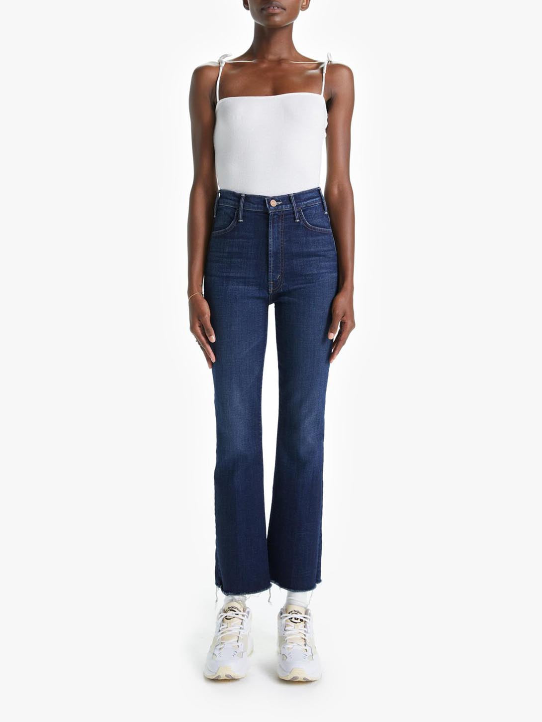 Hustler Ankle Fray Bootcut Jean - Bombay Lost And Found-Mother-Over the Rainbow