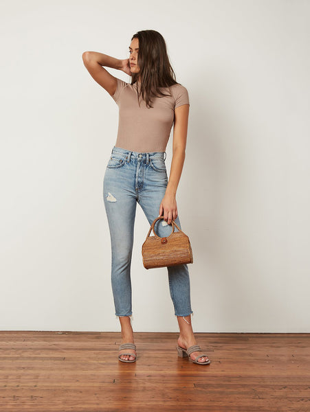 Billy High Waist Cropped Skinny Jean - Taxi Driver-BOYISH-Over the Rainbow
