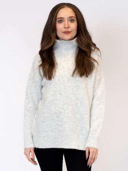 Cosmo Mock Neck Sweater-LYLA+LUXE-Over the Rainbow