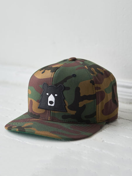 Snapback Bear Hat - Camo-North Standard Trading Post-Over the Rainbow