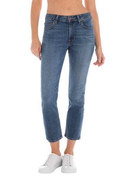 Cher High Rise Crop Straight Leg Jean - Kentucky Blue-Fidelity Denim-Over the Rainbow