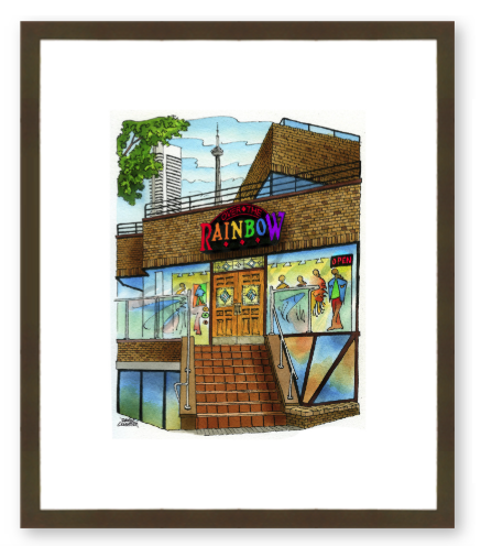 101 Yorkville Avenue Glass Frame Art-YORKVILLE COLLECTORS SERIES-Over the Rainbow