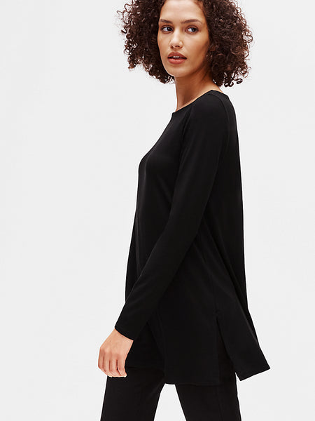 Bateau Tunic Long Sleeve Top-EILEEN FISHER-Over the Rainbow