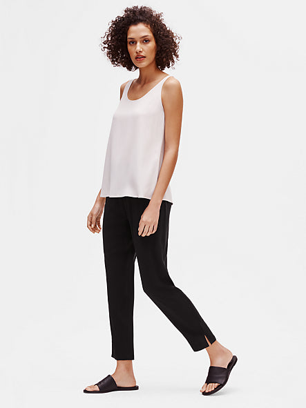 System Silk Georgette Slouchy Tapered Side Slit Pant-EILEEN FISHER-Over the Rainbow