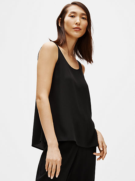 System Silk Georgette Crepe Scoop Tank Top-EILEEN FISHER-Over the Rainbow