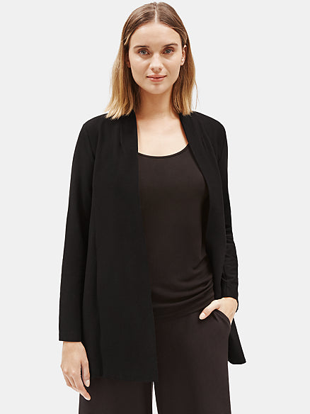 System Lightweight Stretch Crepe Long Jacket-EILEEN FISHER-Over the Rainbow