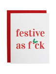 Holiday Greeting Card-CHEZ GAGNE LETTERPRESS-Over the Rainbow