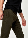 Johnny Twill Slim Pant - Dark Green-Mavi-Over the Rainbow