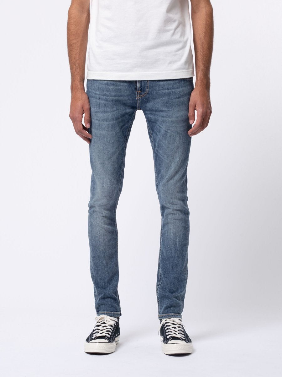Tight Terry Jean - Steel Navy-Nudie Jeans-Over the Rainbow