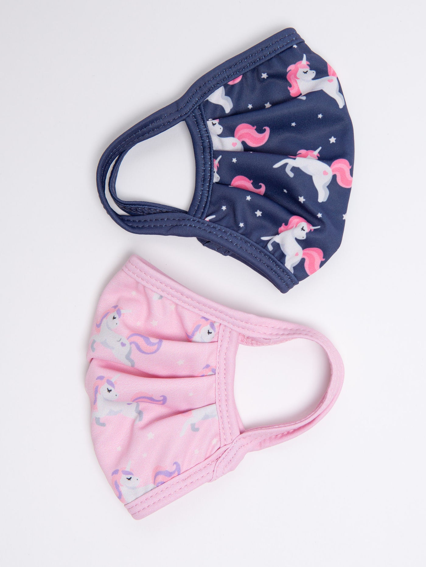 Kids 2-Pack Face Mask - Navy + Pink Unicorn-MVFA-Over the Rainbow