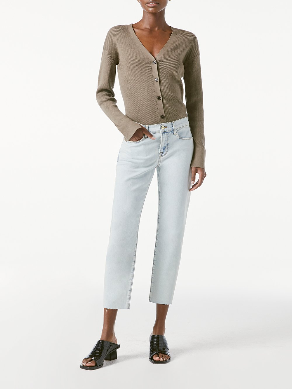 Le Garcon Crop Raw Edge Skinny Jean - Divisedero-FRAME-Over the Rainbow