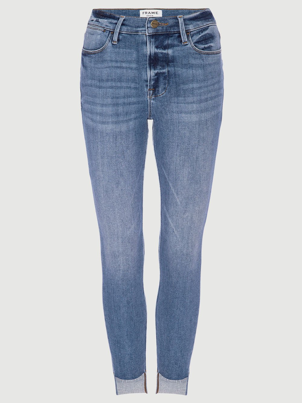 Le High Raw Stagger Skinny Jean - Westway-FRAME-Over the Rainbow