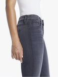 Looker High Waisted Ankle Fray Skinny Jean - Lighting Up Lanterns-Mother-Over the Rainbow