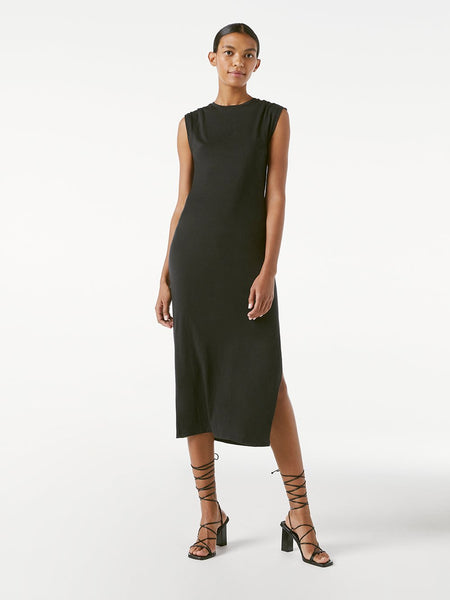 Le Muscle Maxi Dress - Noir-FRAME-Over the Rainbow