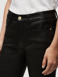 Le Crop Leather Mini Boot Jean - Washed Black-FRAME-Over the Rainbow