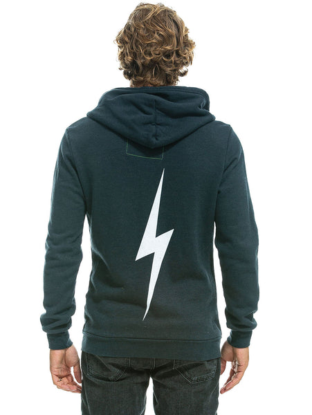 Bolt Zip Hoodie - Charcoal-AVIATOR NATION-Over the Rainbow