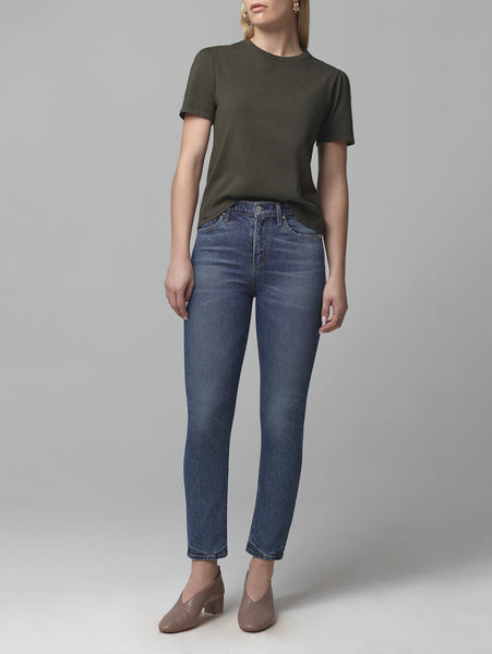 Harlow Ankle Mid Rise Slim Jean - Moments-Citizens of Humanity-Over the Rainbow
