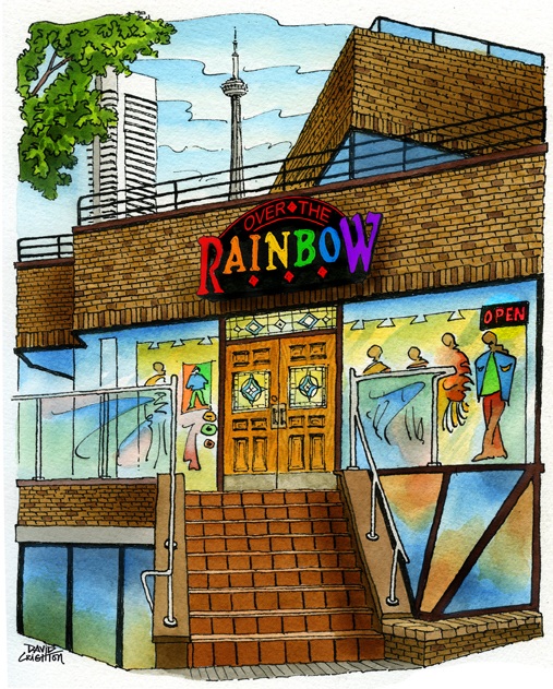 101 Yorkville Avenue Poster Art-YORKVILLE COLLECTORS SERIES-Over the Rainbow