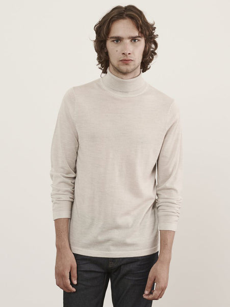 Merino Turtleneck Sweater - Vanilla-Patrick Assaraf-Over the Rainbow
