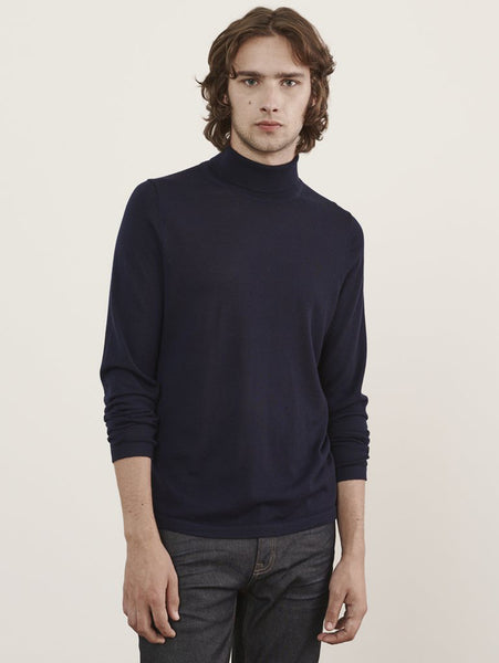 Merino Turtleneck Sweater - Midnight-Patrick Assaraf-Over the Rainbow