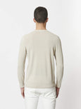 Garment Dyed Long Sleeve Sweater - Pebble-Patrick Assaraf-Over the Rainbow