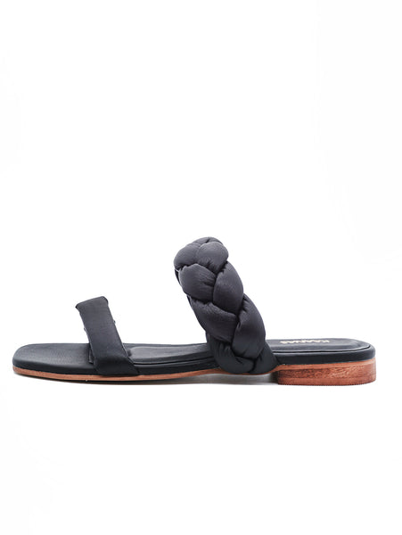 Nassau Braided Sandal - Black-KAANAS-Over the Rainbow